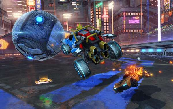 Rocket League Credits of the features being the garish new Tygris